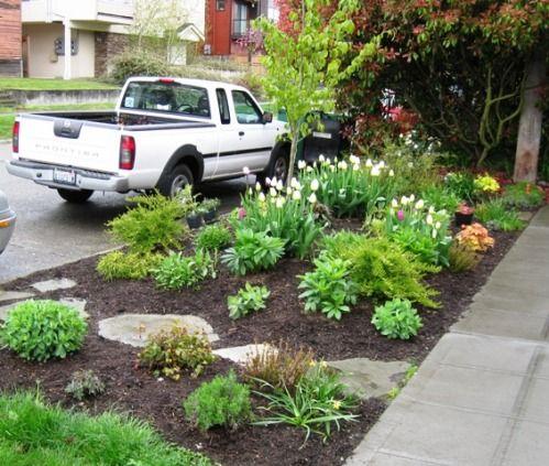 Small Seattle Garden With Big Impact Garden Yard Ideas Sidewalk Landscaping Front Yard Landscaping