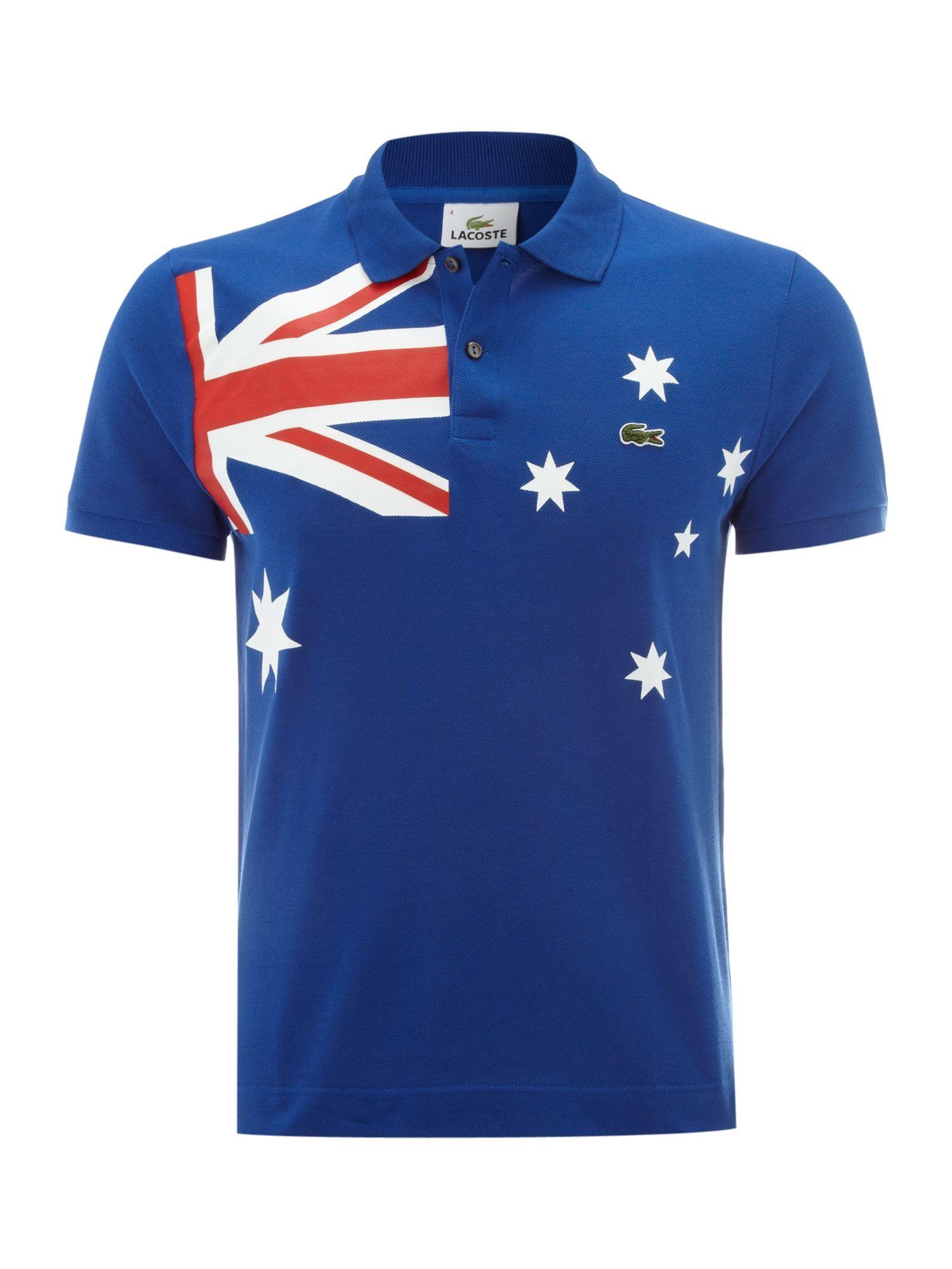 The best polo shirts for men - Lacoste Slim Fit Australia Flag Polo Shirt Men