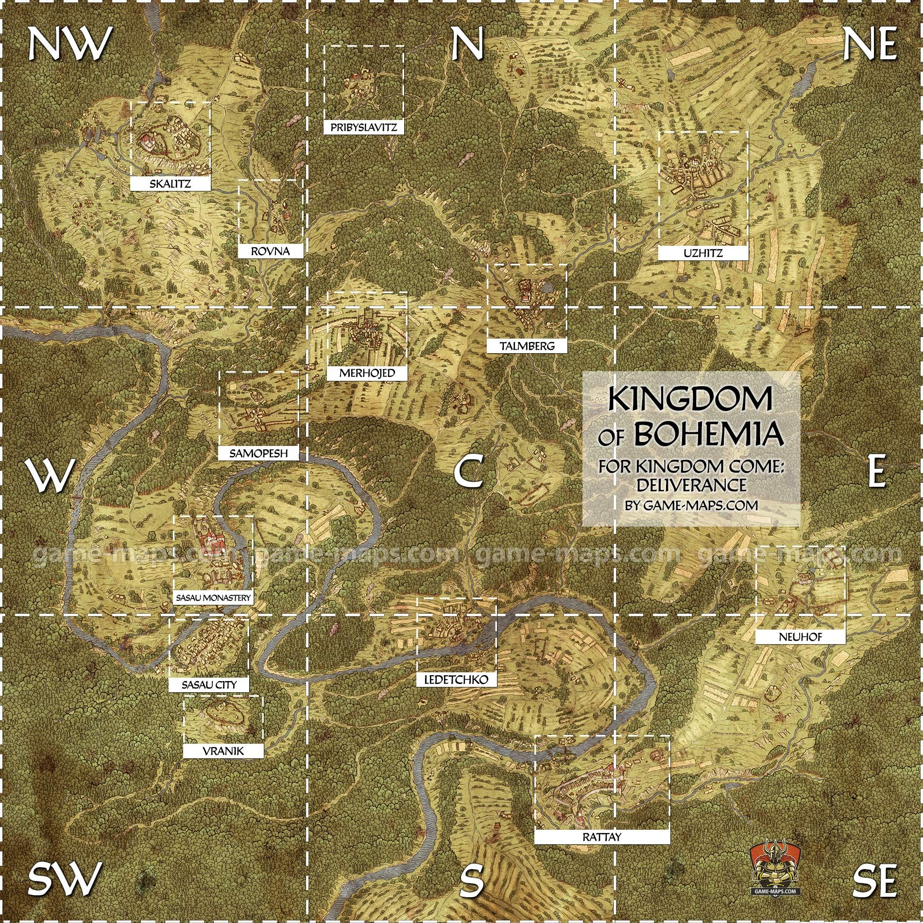 Kingdom Come Deliverance World Map World Map of medieval Bohemia for Kingdom Come Deliverance (KCD