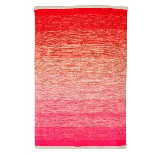 Neon Ombre Pink And Orange Rug 31 Found On Polyvore Orange