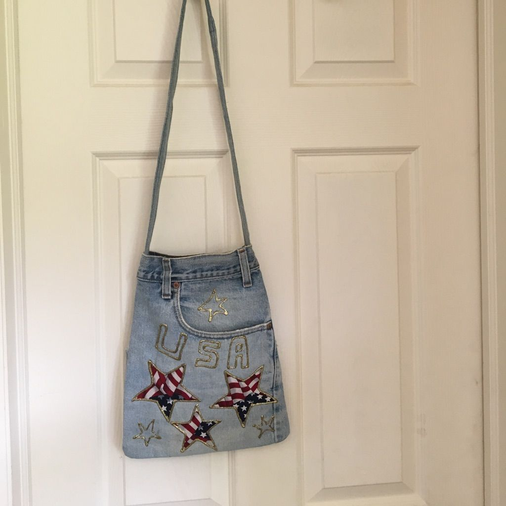 Blue Jean Patriotic Cross Body Bag