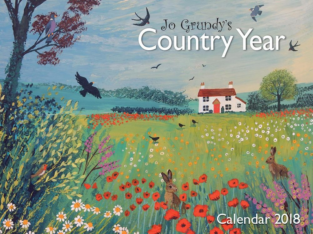 Jo Grundy`s Country Year 2018 Office or Home Wall Calendar Salmon