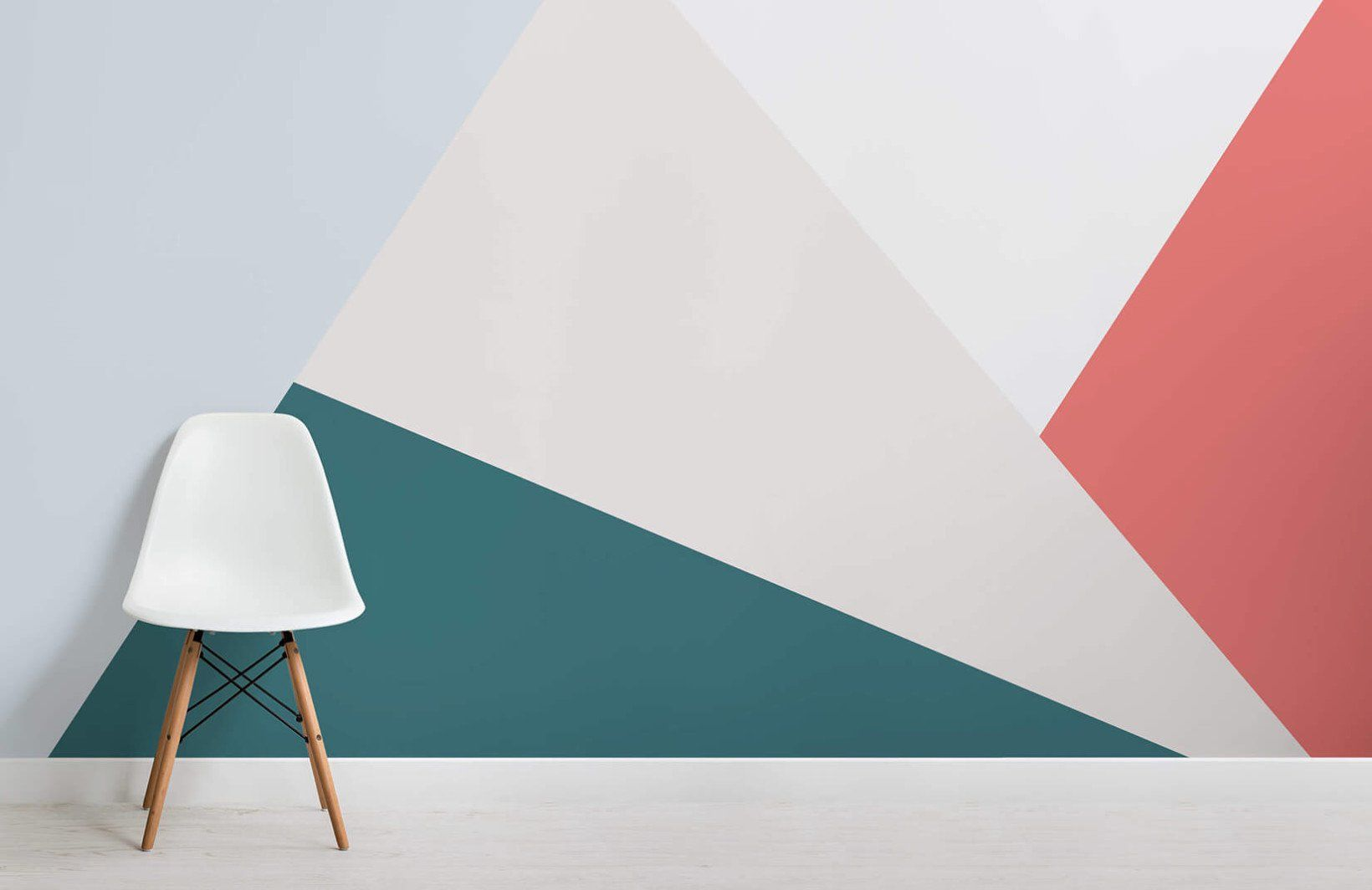 Bright Oversized Geometric Wall Mural images