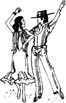 Flamenco Dancer Coloring Pages Tango Dancers Flamenco Dancers
