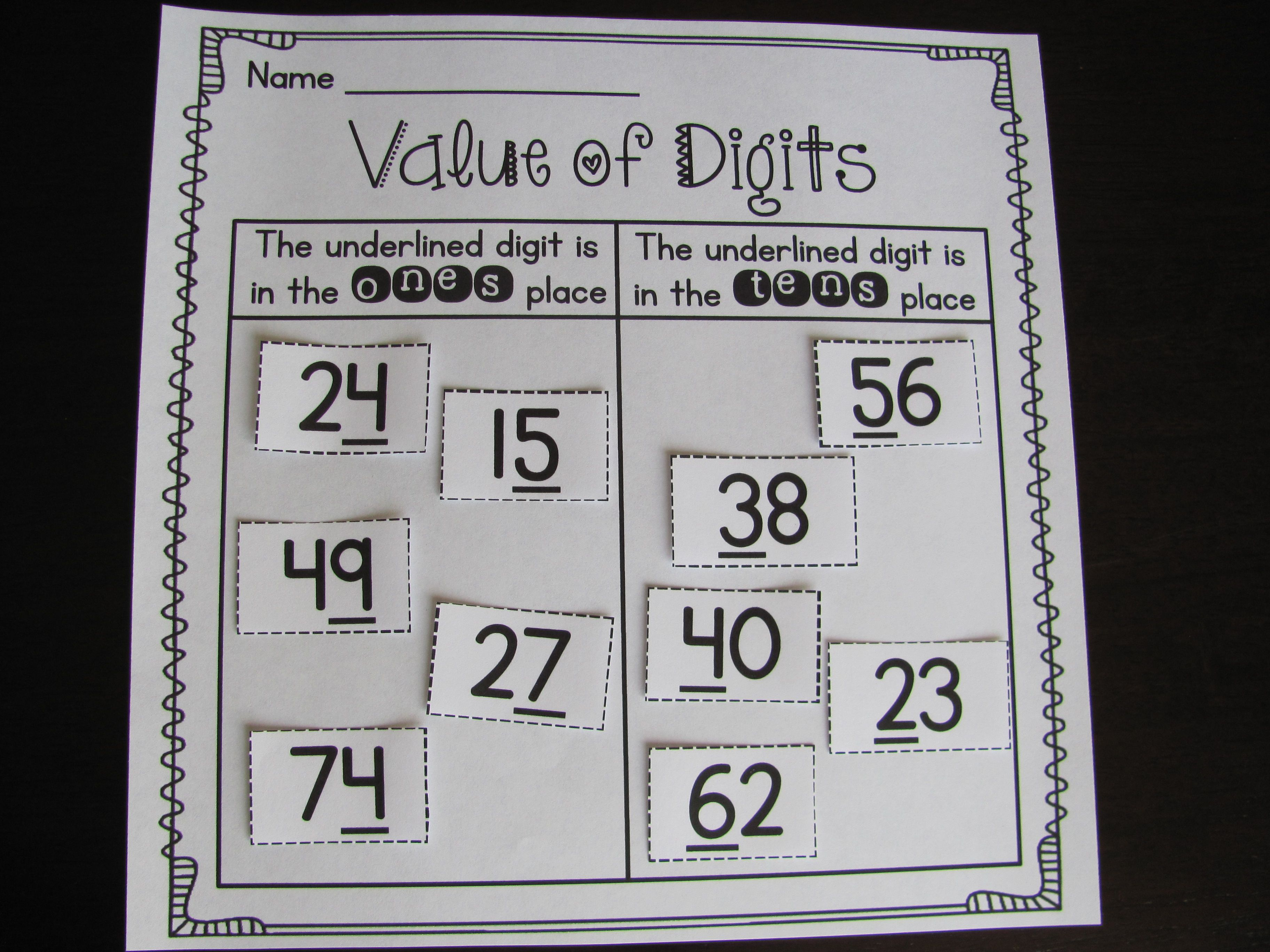 First Grade Math Unit 9 Place Value Worksheets Games And Activities Bundle First Grade Math Place Values Math Methods