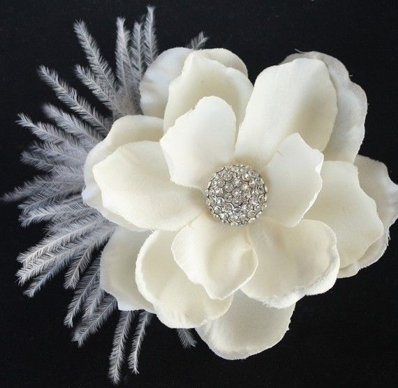 Bridal fascinator hair flower