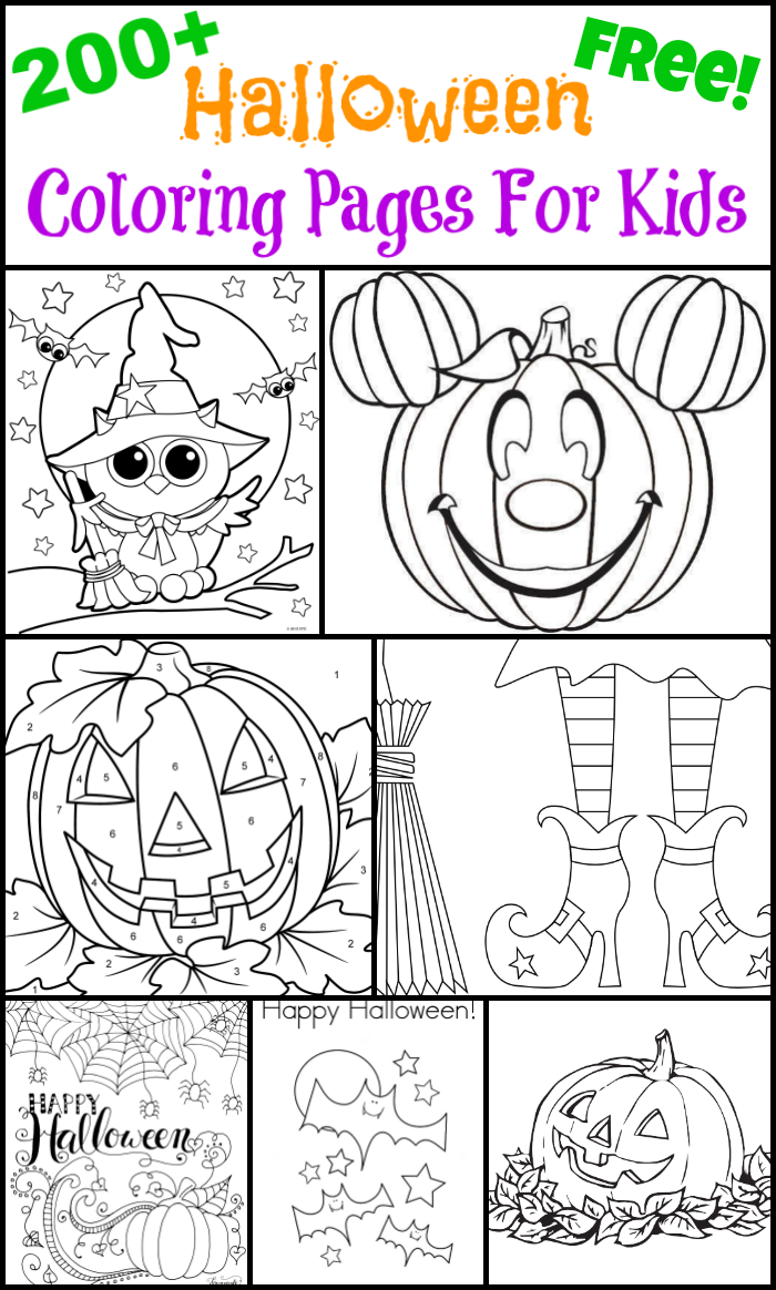 200+ Free Halloween Coloring Pages For Kids - The Suburban Mom ...