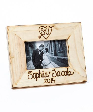 Love this Personalized Heart Wedding Frame on #zulily! #zulilyfinds ...