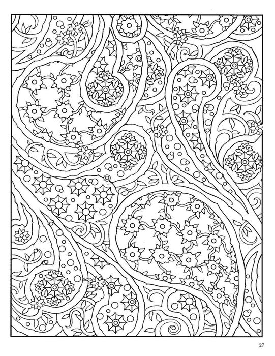 coloring pages of paisley | Paisley Designs Coloring Book (Dover ...