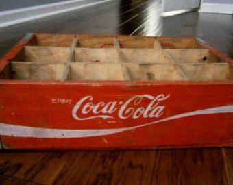 Vintage Coca Cola Wood Crate 1973