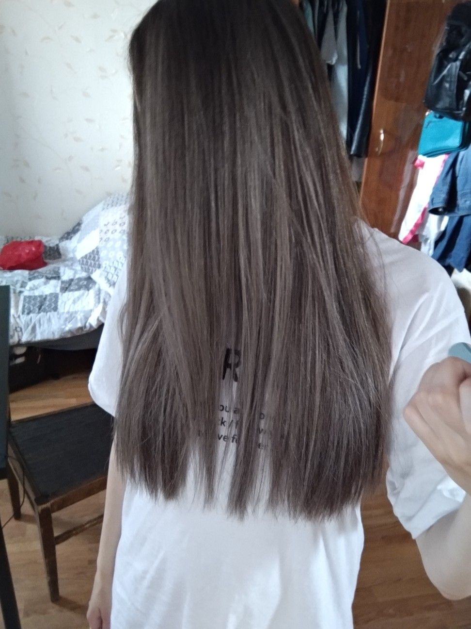 Balayage Ombre Ash Brunette Straight Hair Balayageombre Ashbrunette Brunette Ombre Straighthair Balayage Straight Hair Thick Hair Styles Straight Hairstyles