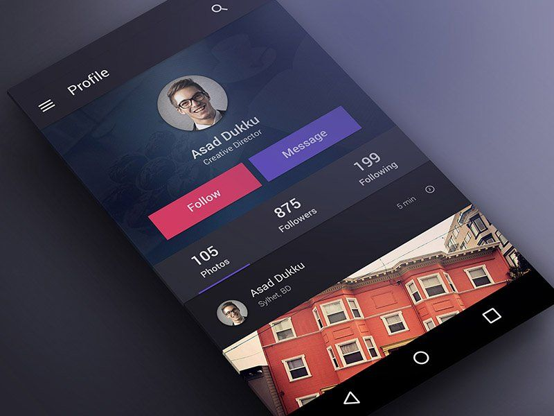 @MaterialUp : User Profile User interface by @redwanulhaque10 #concept https://t.co/Dwwg9fNuEx https://t.co/ggA5cTsNx3
