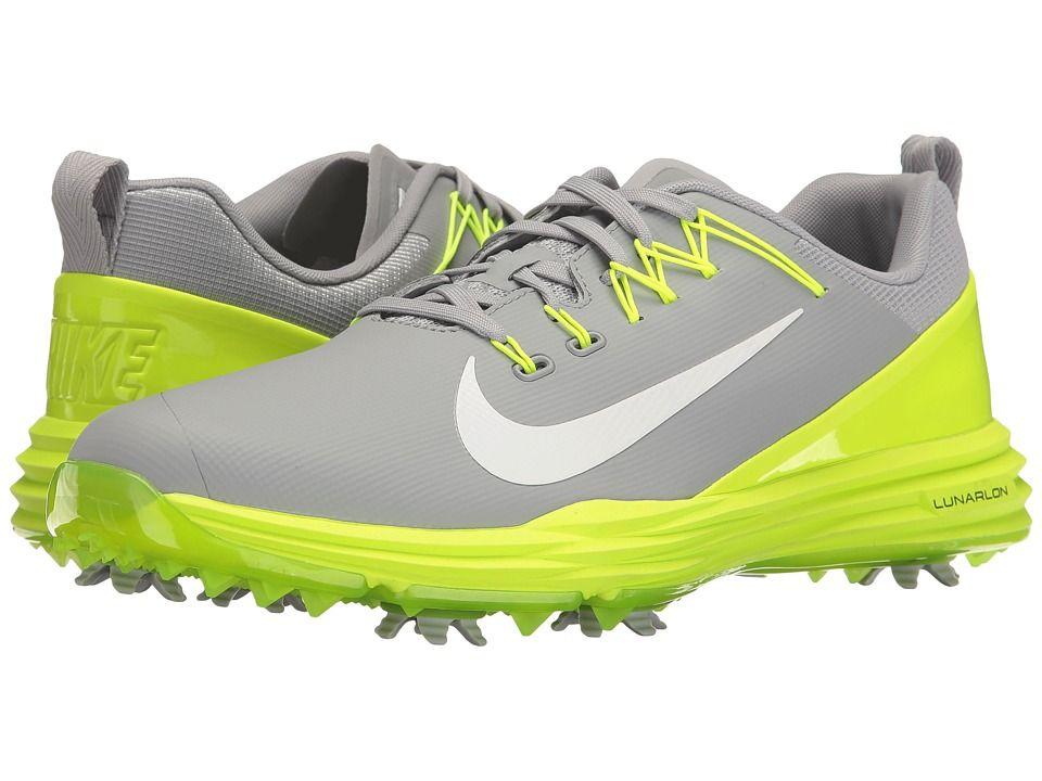 f1ad6a0a6cec Nike Golf Lunar Command 2 (Wolf Grey White Volt) Men s Golf Shoes ...