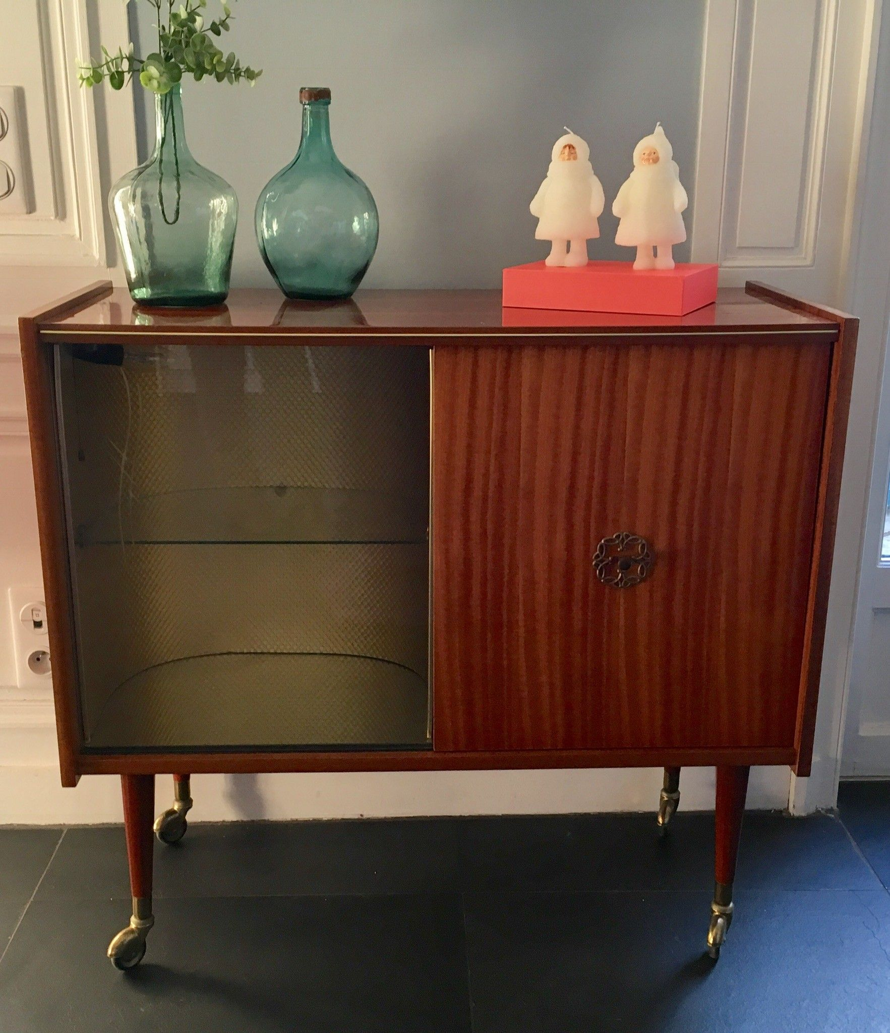 Meuble Bar Vintage Clair D Occasion Vintage Design Scandinave  # Meuble Tv Industriel Occasion