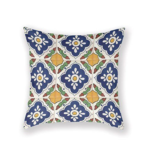 Funny Wholesale Colorful Talavera Spanish Mexican Pillow Custom Throw Pillow Covers Mexican Pillows Cotton Pillow Cases