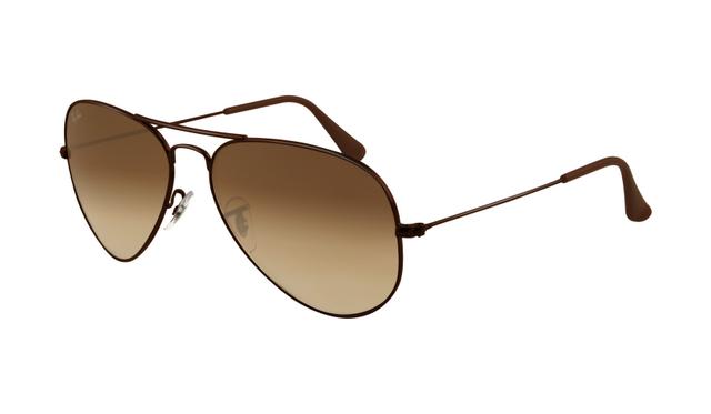 ray ban aviators black frame brown lens