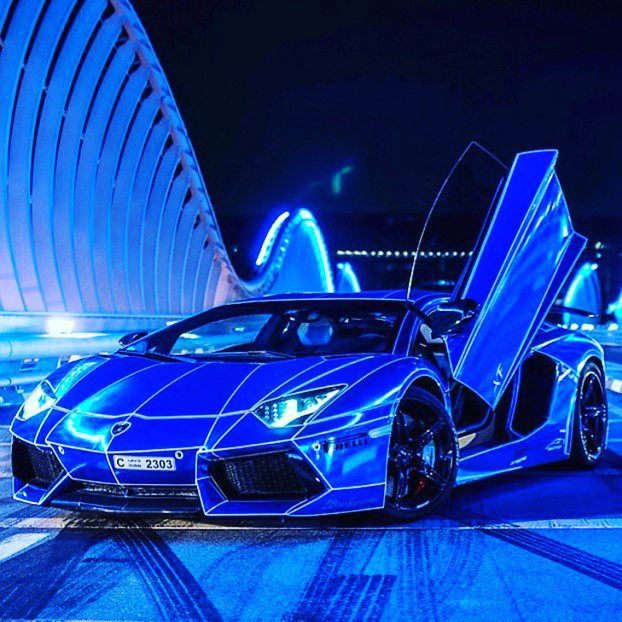 My New Lamborghini Supercar Stunning Neon Blue Colour Only