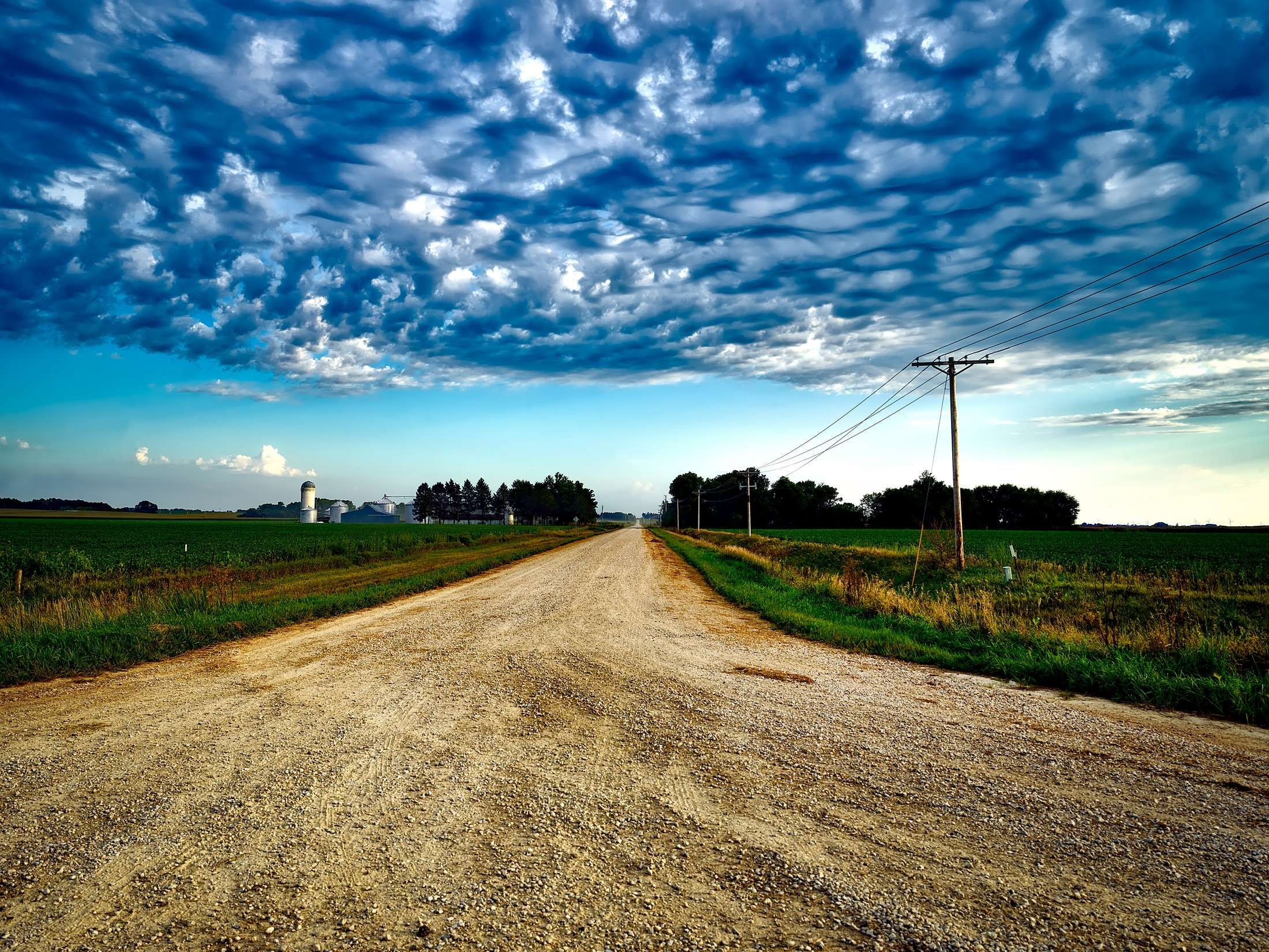 Agriculture Clouds Corn Country Dirt Road Farm Fields