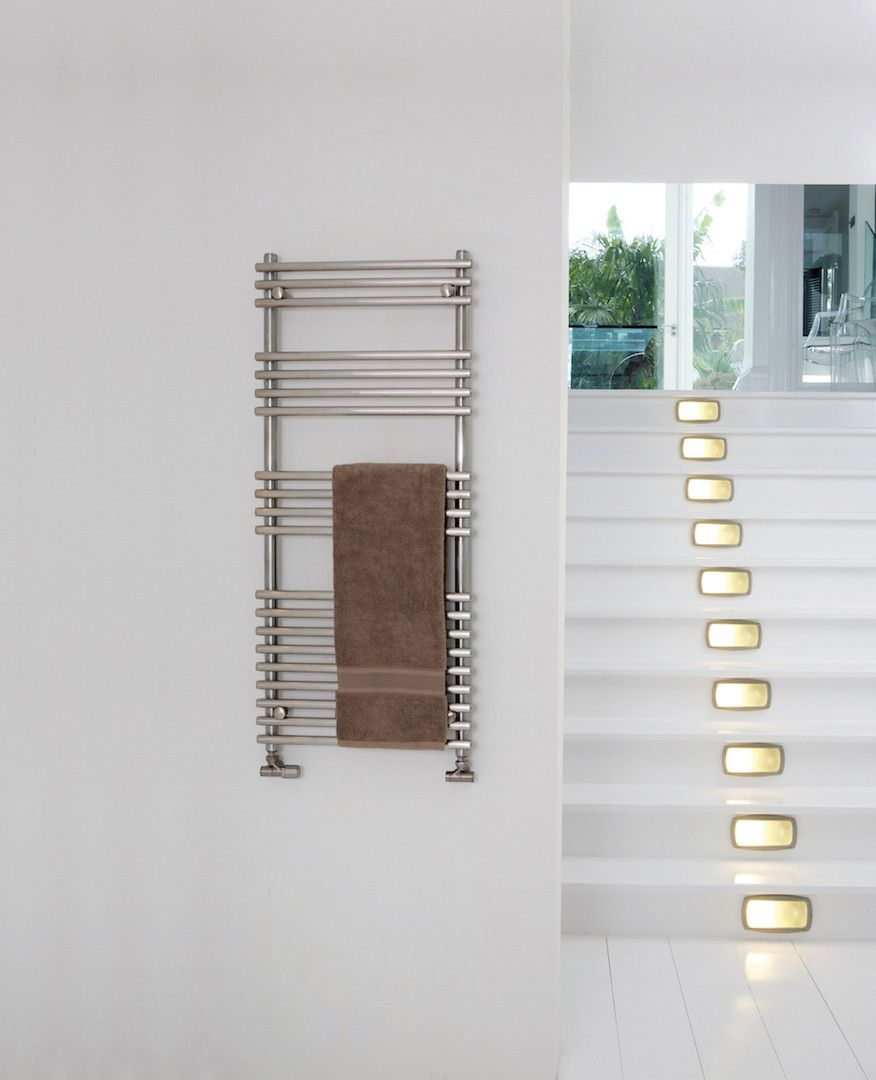 Bathroom radiators towel rails it is represent classic rectangular - Aeon Windsor Stainless Steel Tube On Tube Towel Rail Available In Both Brushed And Polished Stainless Steel Central Heating Dual Fuel And Electric Only