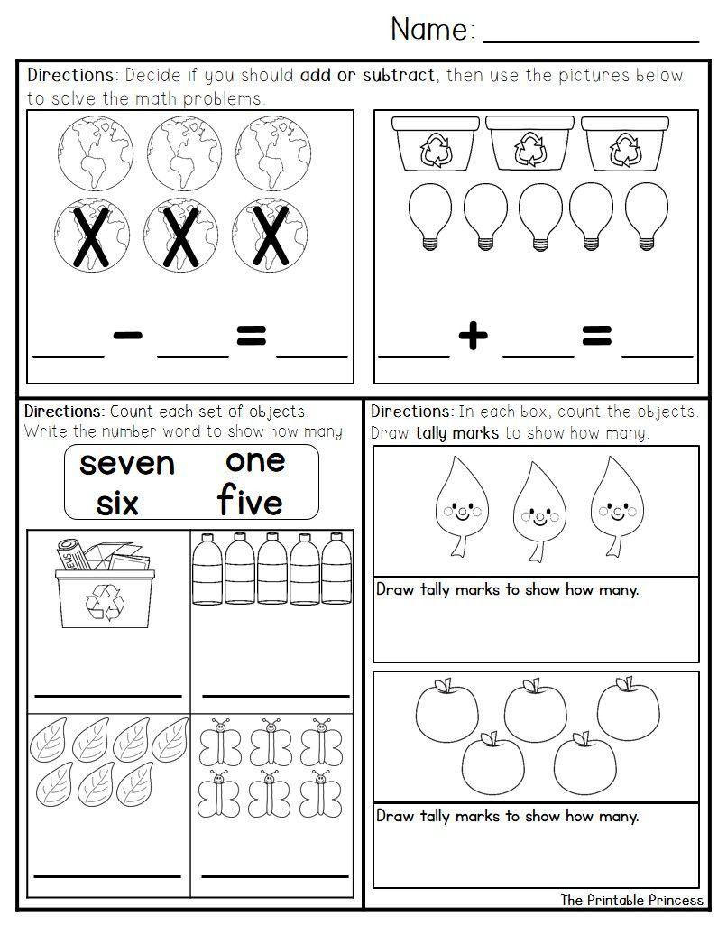 Kindergarten Math Worksheets Morning Work April Morning Work For Kindergarten Kindergarten Math Kindergarten Morning Work Kindergarten Math Worksheets