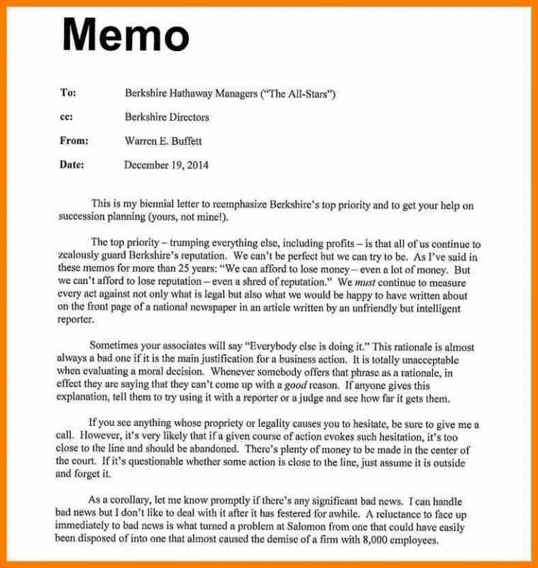 Sample Memo Format Memo Format Memo Lettering