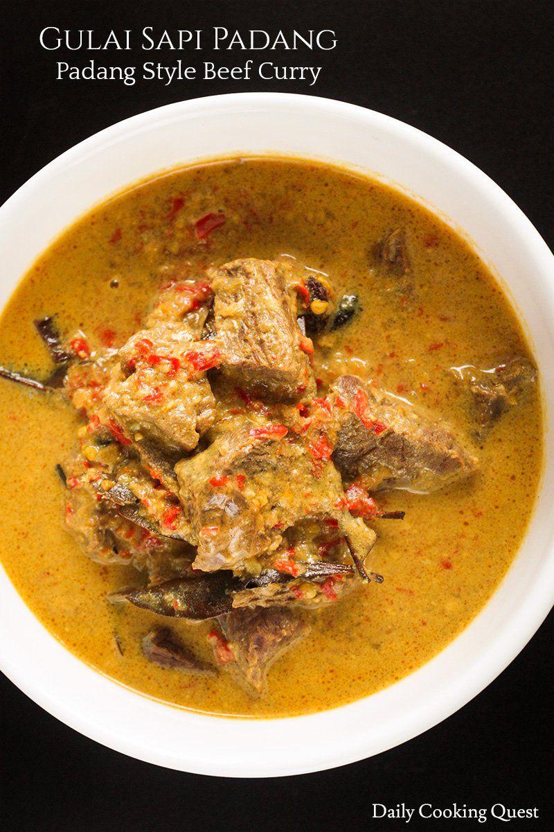 Gulai Sapi Padang Padang Style Beef Curry Recipe In 2020