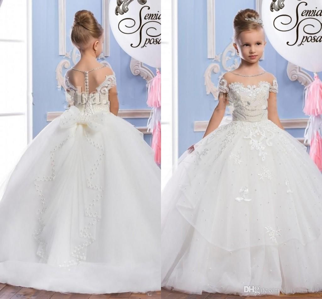 I found some amazing stuff open it to learn more dont waithttps custom made flower girl dresses for wedding blush pink princess tutu sequined appliqued lace bow 2017 vintage child first communion dress 2018 from izmirmasajfo Images