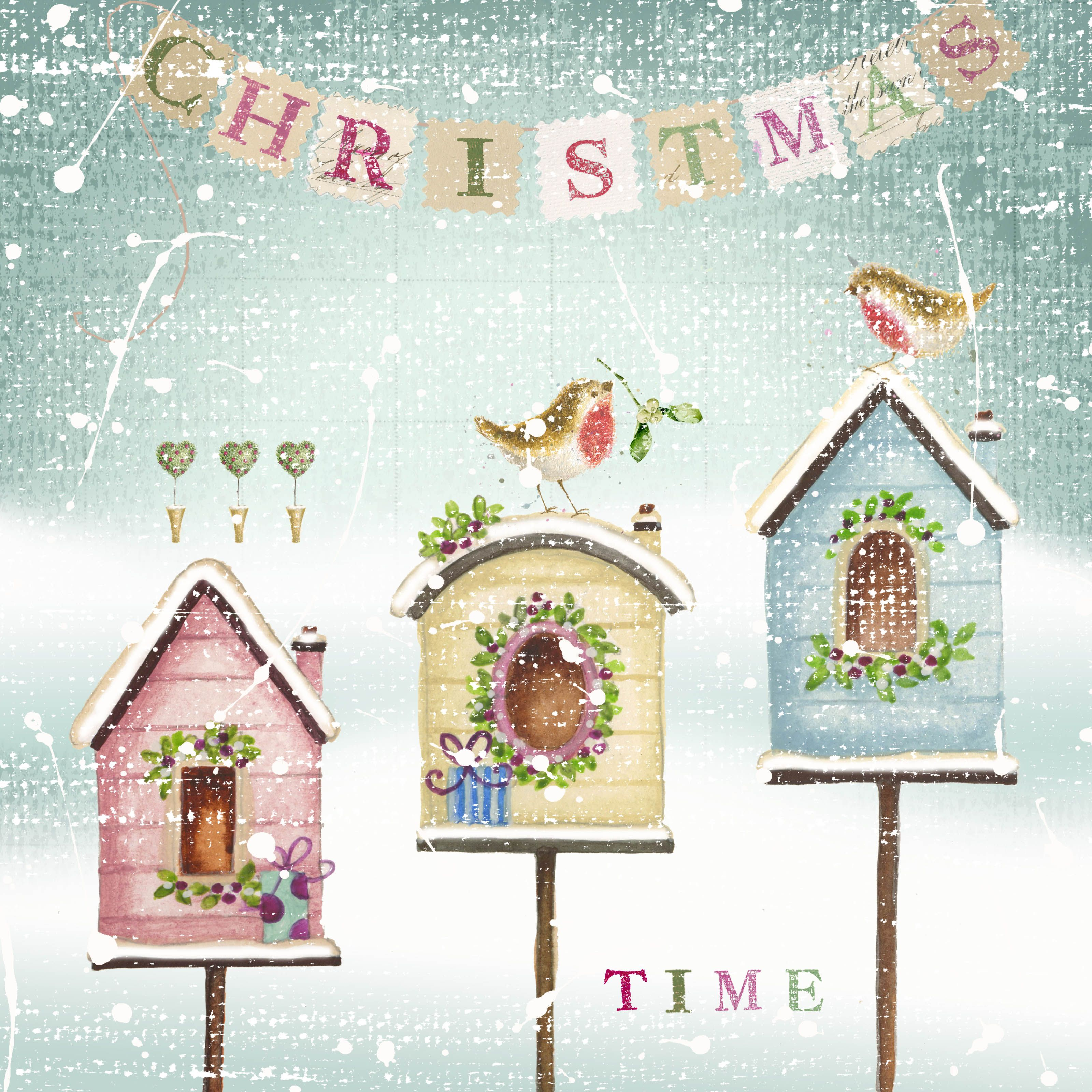 Christmas Greeting Card Design By Nicola Jane Rabbett These