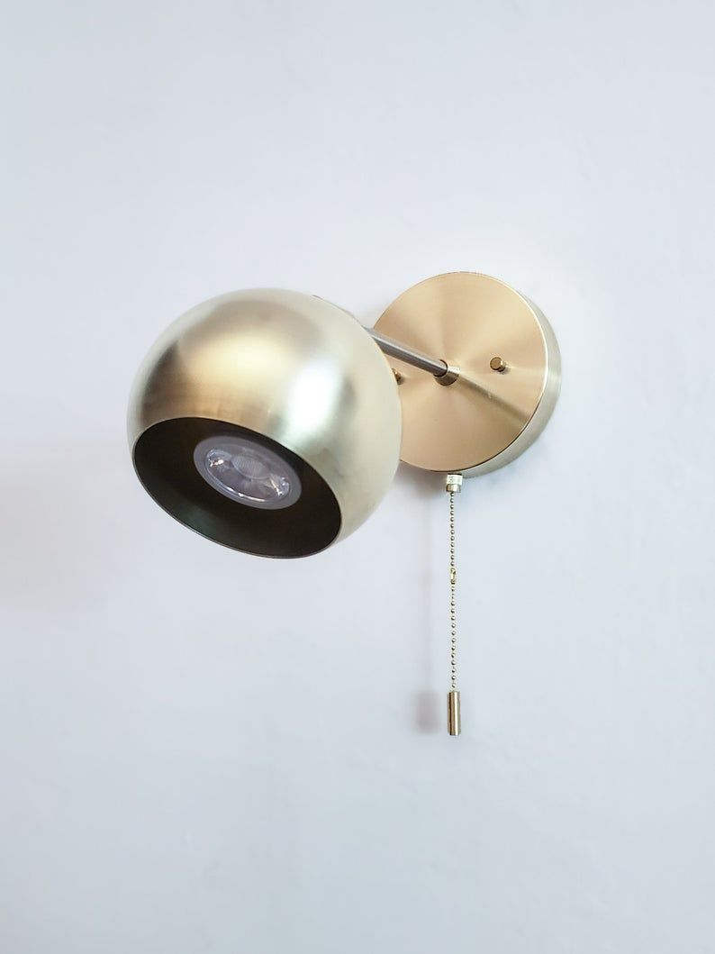 Pull Chain Articulating Wall Sconce Industrial Light Etsy Articulating Wall Sconce Ball Lamps Sconces