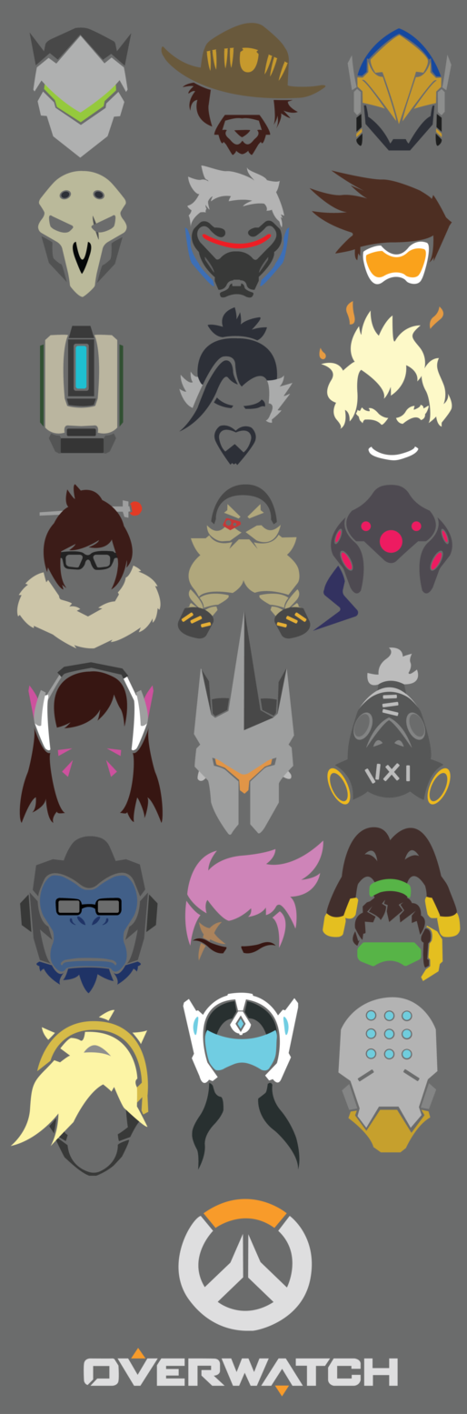 Overwatch All Heroes Icons By Flamehero6106 Overwatch Overwatch Decor Overwatch Birthday