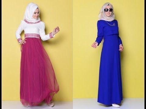 Sefa Merve Yeni Tesettur Elbise Modelleri 2016 Elbise Modelleri Moda Elbise