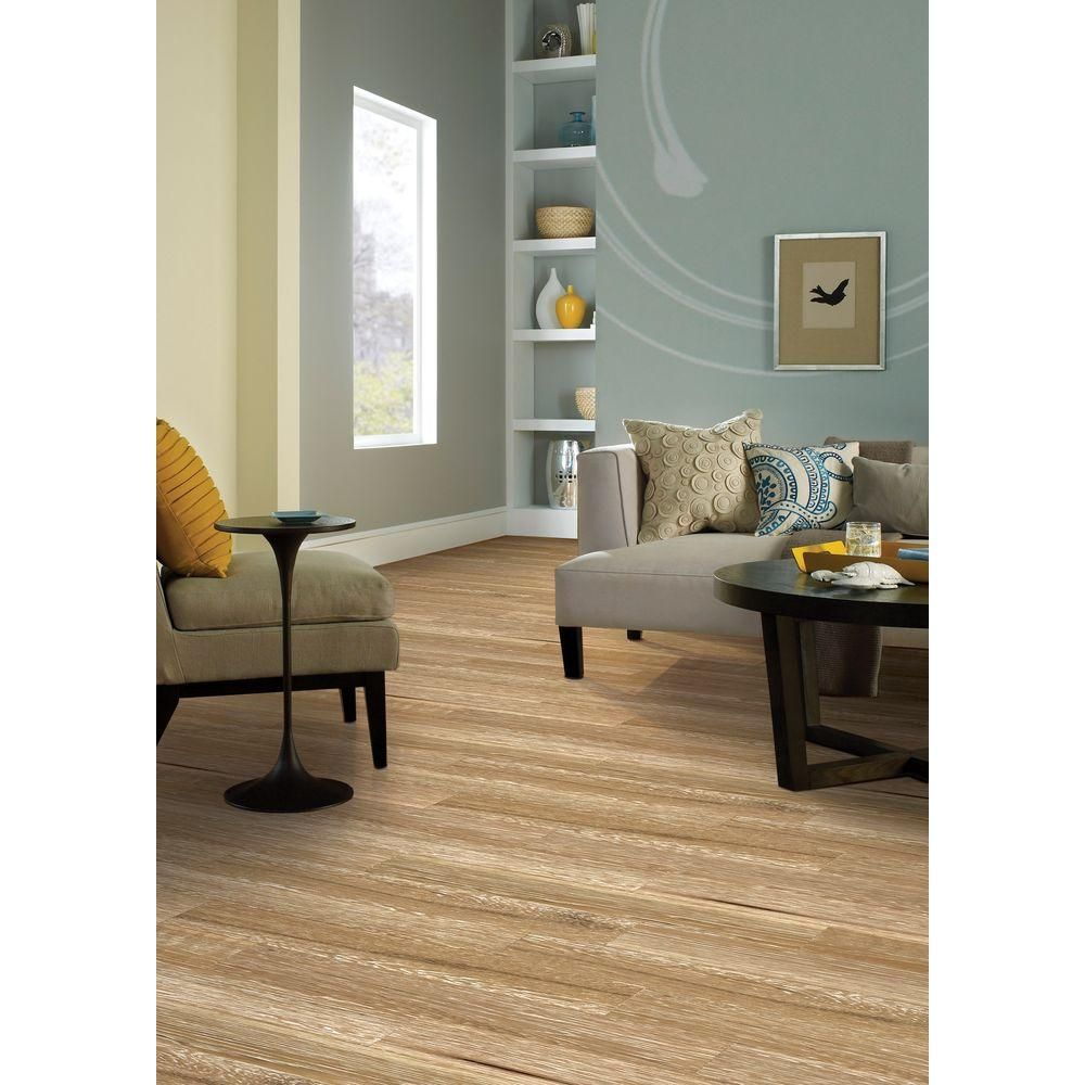 Home Legend Wire Brushed Windcrest Oak 3/8 In. T X 5 In. W X Varying Length  Click Lock Hardwood Flooring (19.686 Sq. Ft. / Case)