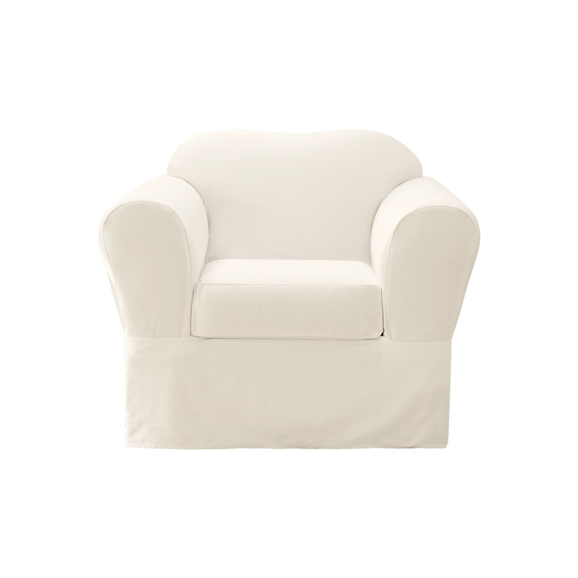 Sure Fit Twill Supreme 2 Piece Set Chair Slipcover & Reviews