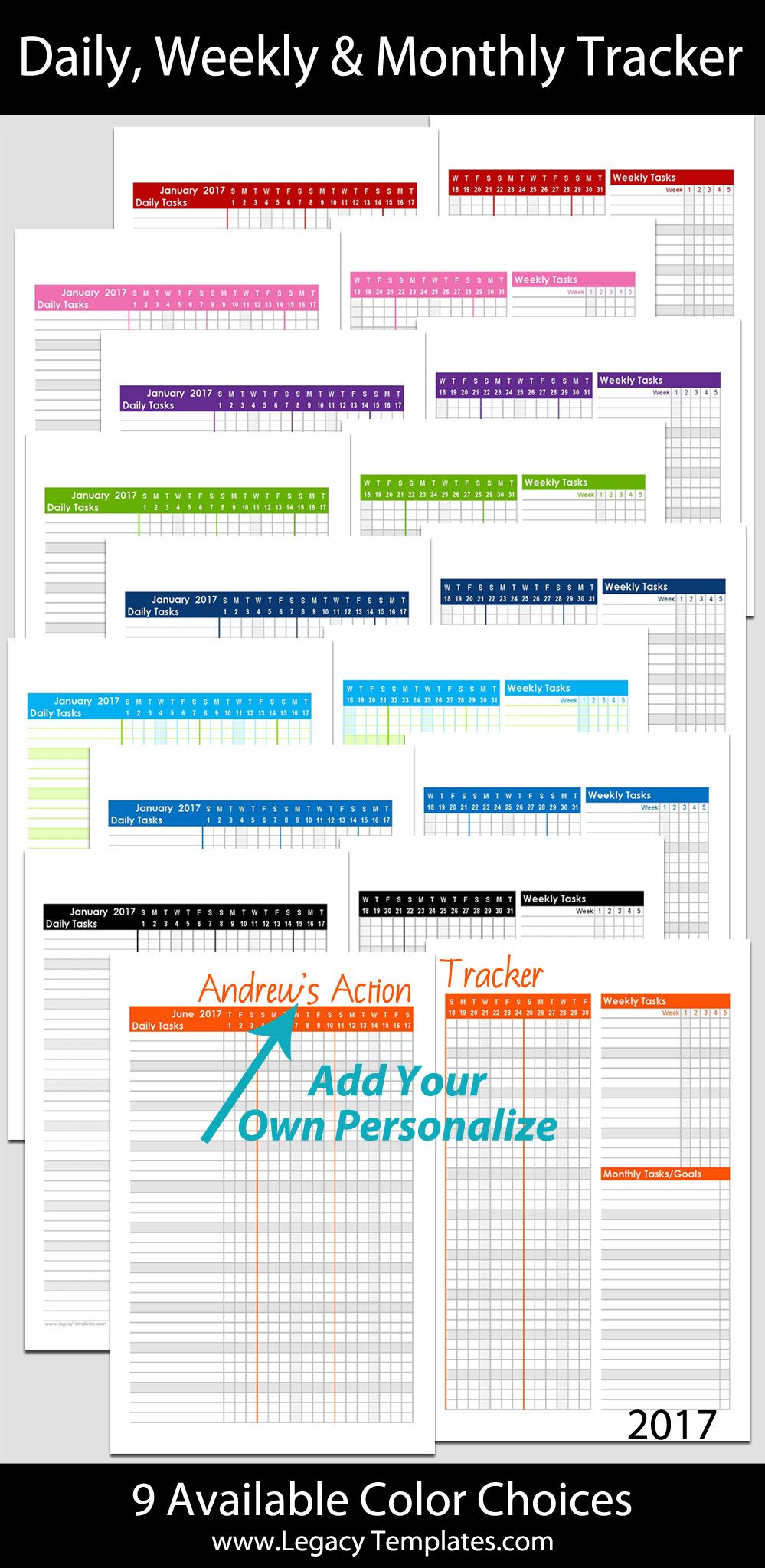 Month Personalized Task Tracker    X    Legacy