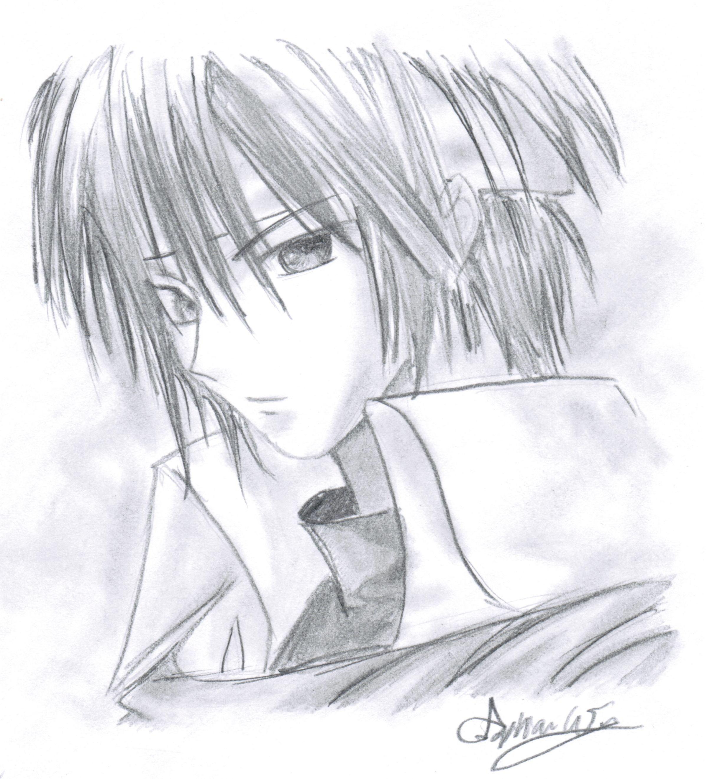 Anime Boy Drawing, Drawing Skills And Drawings