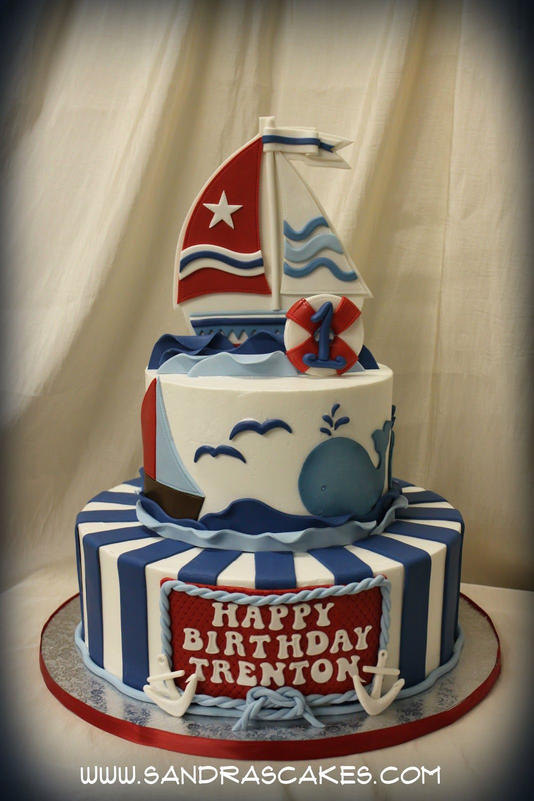 Sail AwaySail Away In This Adorable Sail Boat Cake Crafted - Boat birthday cake ideas