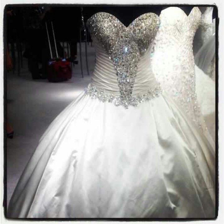 Blinged Out Wedding Dress Bling Wedding Dress Princess Wedding Dresses Wedding Dresses