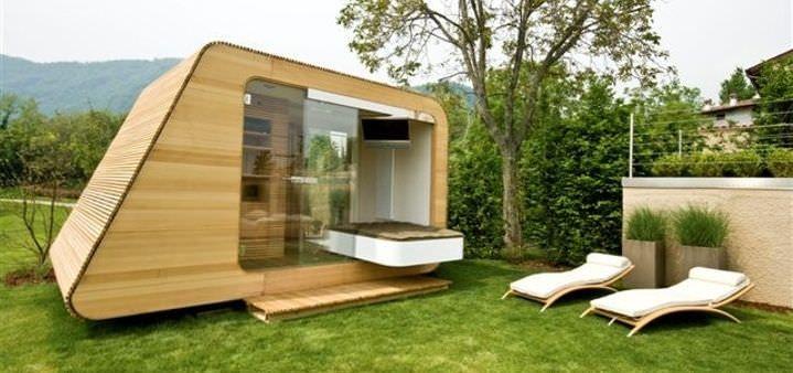 Micro maison pr fabriqu e modulaire contemporaine cologique d eva by alessandro campesato for Maison modulaire ecologique