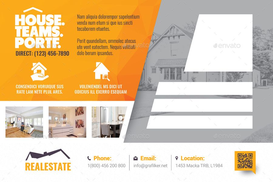 Real Estate Postcard Templates Estate Real Templates Postcard
