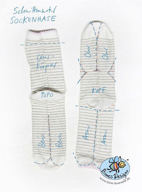 Schnittmuster Sockenhase | Kreatives | Pinterest | Sock dolls ...