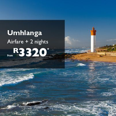 Fly-in includes: Return flights on Kulula  Approximate taxes  2 days