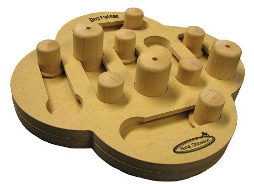 49 95 49 95 Nina Ottosson Wooden Dog Treat Fighter This