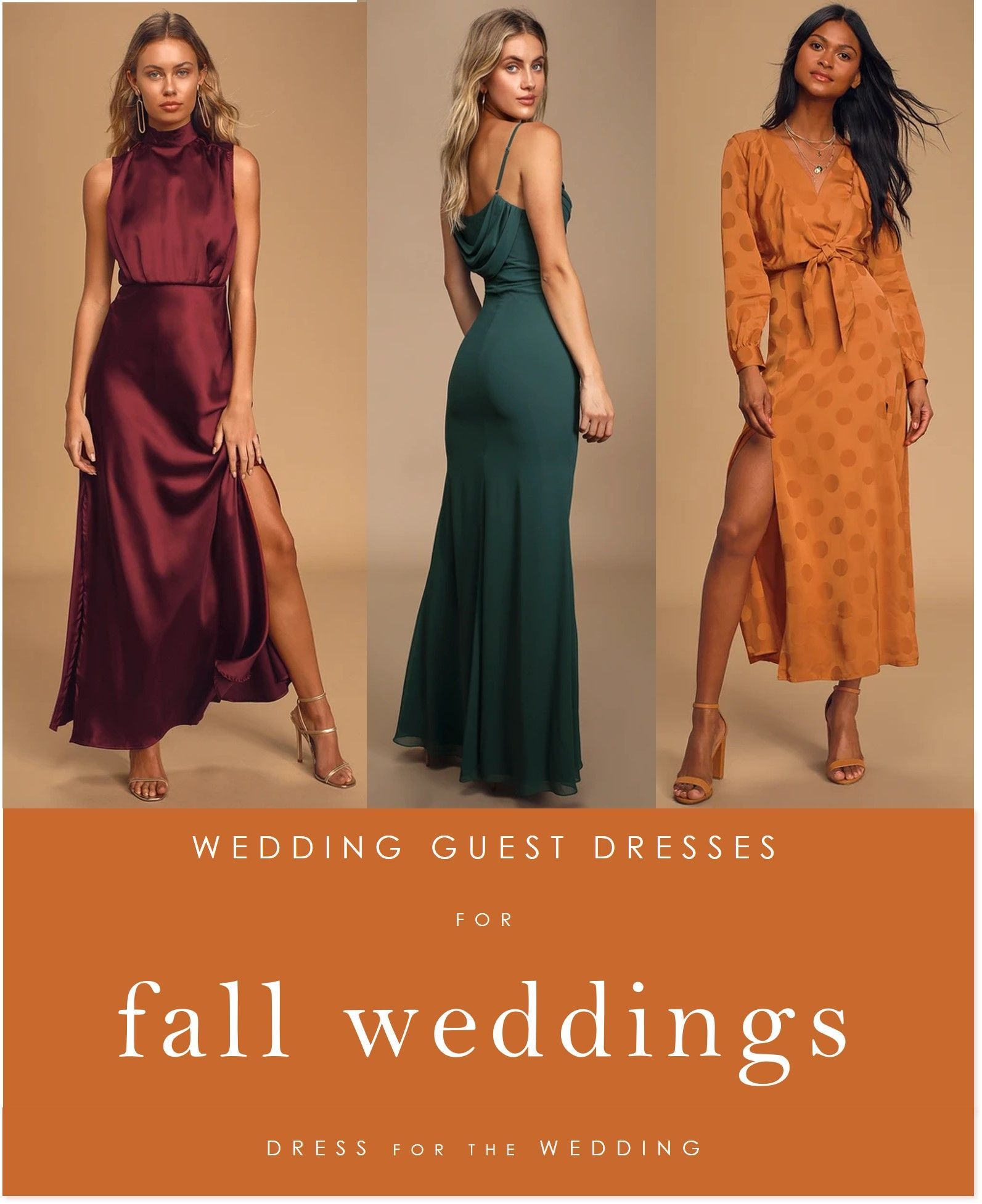 Dresses to wear to fall events and weddings #weddingguest