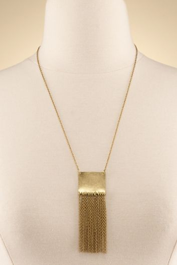 Liquid Gold Necklace - Cable Chain Necklace, Chain Fringe Necklace | Soft Surroundings