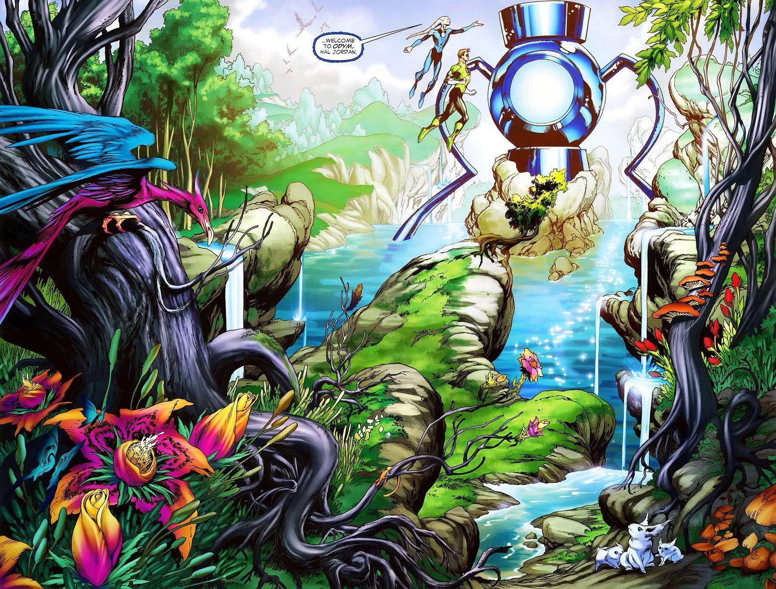 Odym, Hal Jordan's arrival. Blue lantern corps, Blue