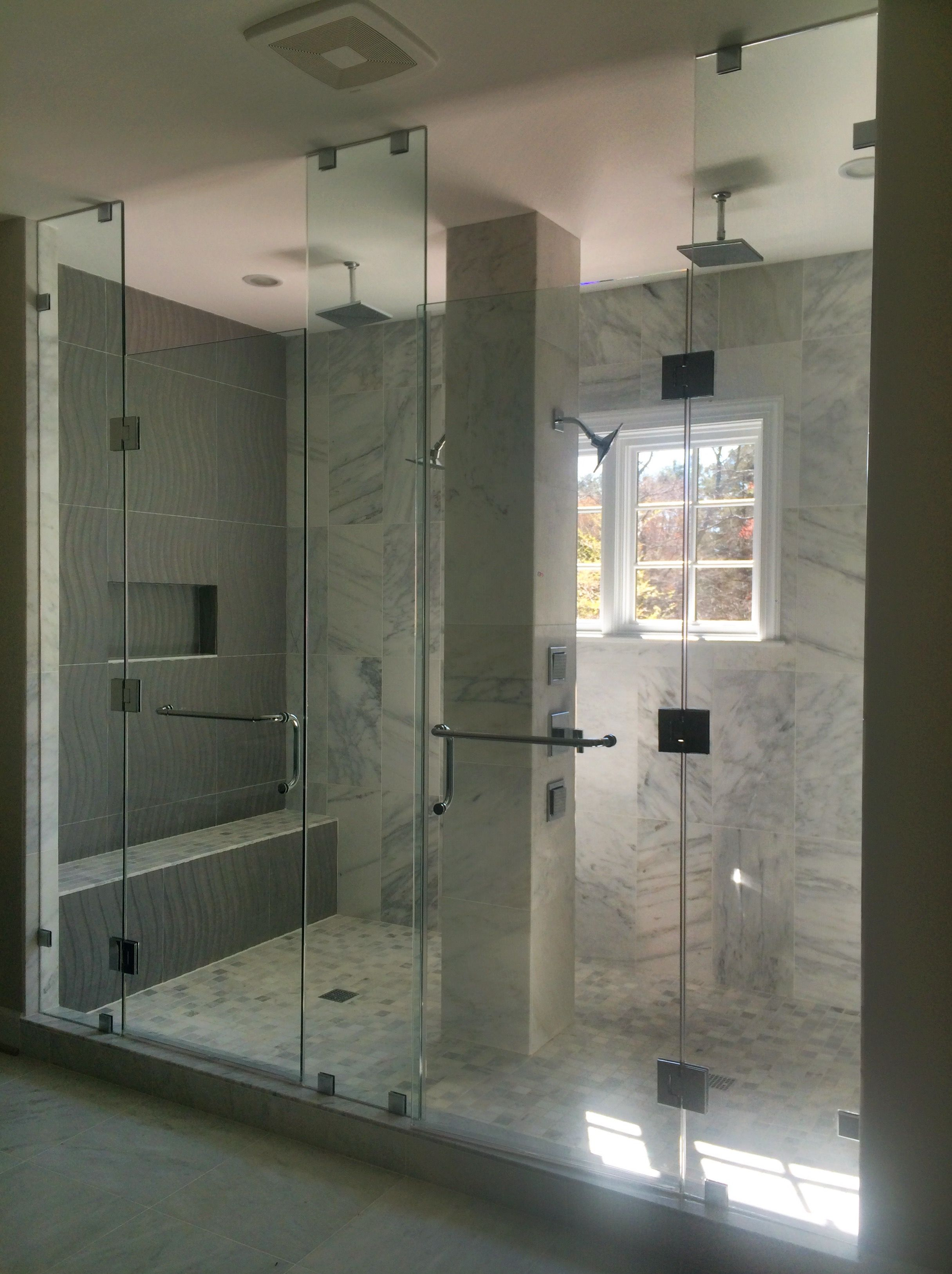 Large custom two-person shower. Gulick Group luxury home builder and ...