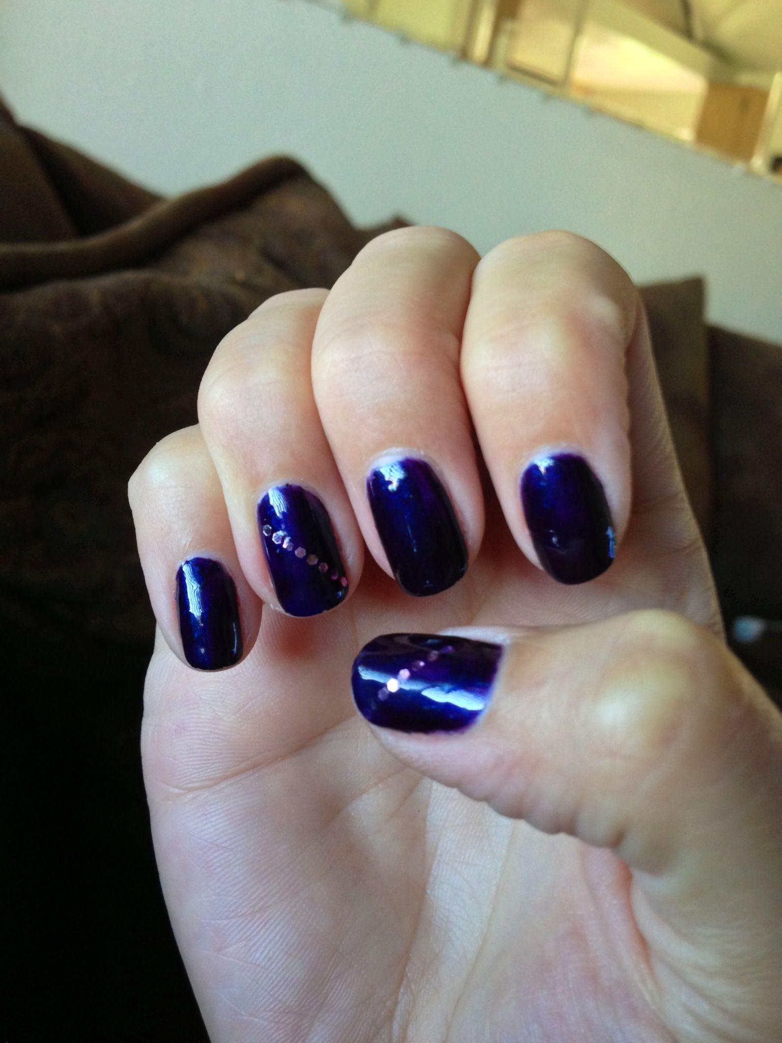 Deep purple gel polish with a little sparkle #nailart | Nail Art ...