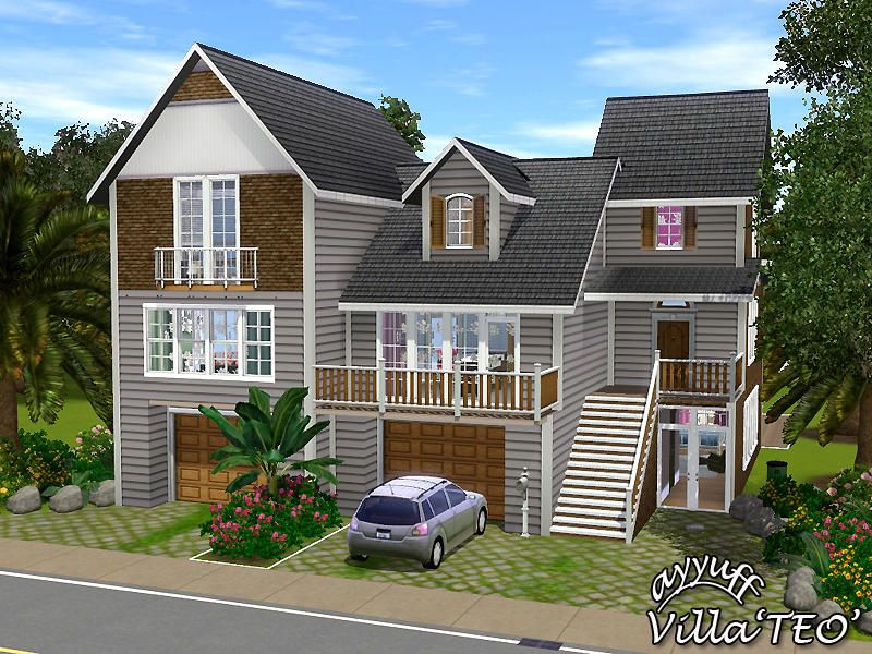 A Stylish Family Home With 1 Kitchen 2 Living Rooms 4 Bedrooms 3baths 2 Garages Found In Tsr Category Sims Sims Freeplay Houses Sims House Design Sims House