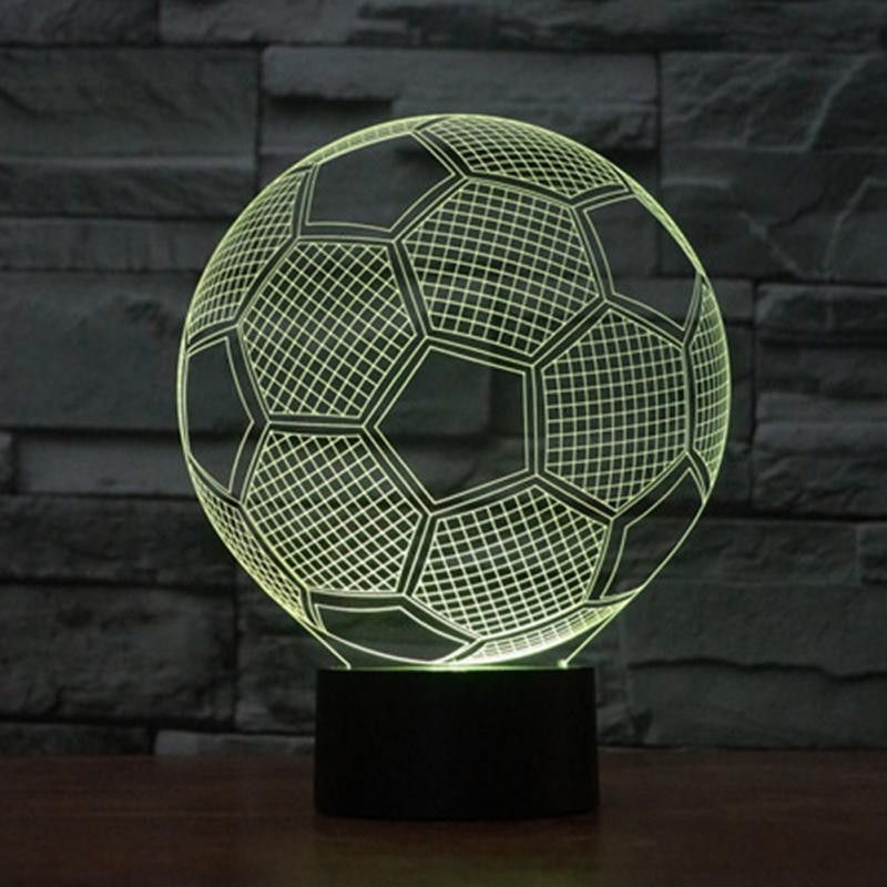 Soccer 3d Illusion Lamp 3d Led Lamp 3d Illusion Lamp Led Night Lamp
