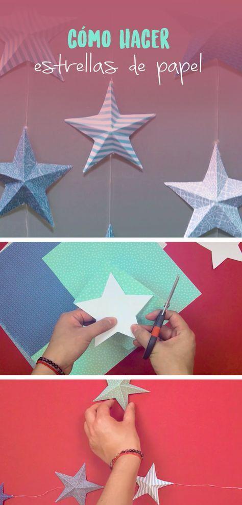 Como Hacer Estrellas De Papel Estrellas De Papel Manualidades Decoracion Estrellas